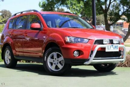 2012 Mitsubishi Outlander ZH MY12 Platinum Red 6 Speed Constant Variable Wagon