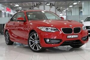 2014 BMW 228I F22 MY15 Sport Line Red 8 Speed Automatic Coupe Waterloo Inner Sydney Preview