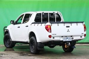 2014 Mitsubishi Triton MN MY15 GLX Double Cab White 4 Speed Sports Automatic Utility Ringwood East Maroondah Area Preview
