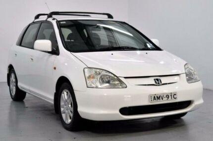 2002 Honda Civic 7TH GEN VI White 5 Speed Manual Hatchback