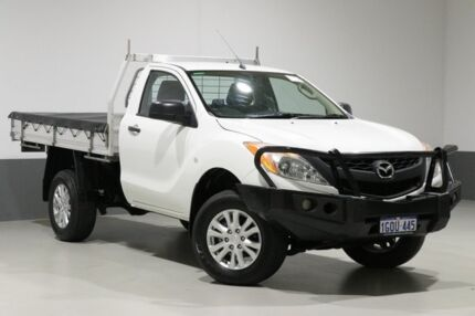 2014 Mazda BT-50 MY13 XT HI-Rider (4x2) White 6 Speed Manual Cab Chassis Bentley Canning Area Preview