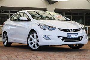 2013 Hyundai Elantra MD2 Premium White 6 Speed Sports Automatic Sedan Willagee Melville Area Preview