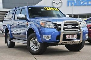 2010 Ford Ranger PK XLT Crew Cab Blue 5 Speed Manual Utility Mount Gravatt Brisbane South East Preview
