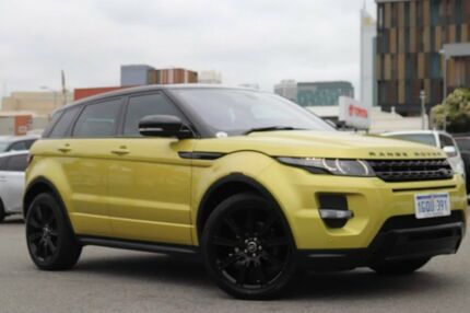 2013 Land Rover Evoque LV MY13 SD4 Dynamic LE Yellow 6 Speed Automatic Wagon Northbridge Perth City Area Preview