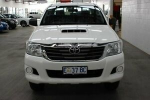 2014 Toyota Hilux KUN26R MY14 SR Double Cab White 5 Speed Manual Utility Burnie Burnie Area Preview