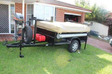 Camper trailer tinny outboard