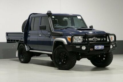 2018 Toyota Landcruiser VDJ79R MY18 GXL (4x4) Blue 5 Speed Manual Double Cab Chassis Bentley Canning Area Preview