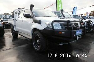 2012 Toyota Hilux KUN26R MY12 Workmate Double Cab White 5 Speed Manual Utility Fawkner Moreland Area Preview