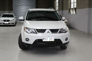2009 Mitsubishi Outlander ZG VR White Sports Automatic Wagon Knoxfield Knox Area Preview