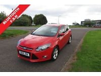 FORD FOCUS 1.6 ZETEC,2012 Alloys,Air Con,Bluetooth,Privacy Glass,Parking Sensors,Full Ford History