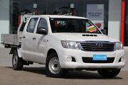 2014 Toyota Hilux KUN16R MY14 SR Double Cab 4x2 White 5 Speed Manual Utility Kippa-ring Redcliffe Area Preview