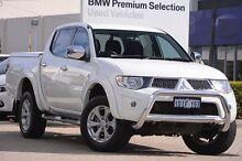 2010 Mitsubishi Triton MN MY10 GLX-R Double Cab White 5 Speed Sports Automatic Utility Victoria Park Victoria Park Area Preview