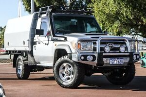 2009 Toyota Landcruiser VDJ79R MY10 GXL Silver 5 Speed Manual Cab Chassis Wilson Canning Area Preview