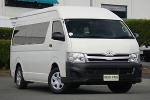 2012 Toyota Hiace TRH223R MY12 Commuter High Roof Super LWB White 4 Speed Automatic Bus Acacia Ridge Brisbane South West Preview