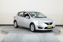 2013 Nissan Pulsar C12 ST Silver Continuous Variable Hatchback Smithfield Parramatta Area Preview