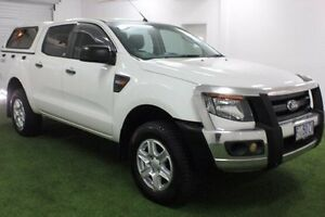 2013 Ford Ranger PX XL Double Cab White 6 Speed Manual Utility Moonah Glenorchy Area Preview