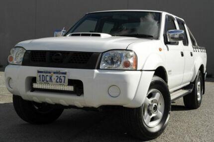 2009 Nissan Navara STR White 5 Speed Manual Dual Cab Beckenham Gosnells Area Preview