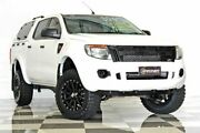 2013 Ford Ranger PX XL 2.2 HI-Rider (4x2) White 6 Speed Automatic Crew Cab Pickup Burleigh Heads Gold Coast South Preview