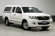 2012 Toyota Hilux GGN15R MY12 SR White 5 Speed Automatic X Cab Pickup Bentley Canning Area Preview