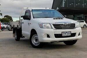 2013 Toyota Hilux White Manual Cab Chassis Blackburn Whitehorse Area Preview