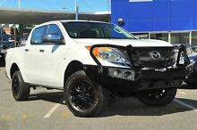 2013 Mazda BT-50 UP0YF1 XTR White 6 Speed Manual Utility Glendalough Stirling Area Preview