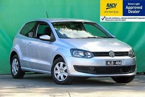 2011 Volkswagen Polo 6R Trendline Silver Sports Automatic Dual Clutch Hatchback Ringwood East Maroondah Area Preview