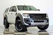 2014 Ford Ranger PX XL 2.2 HI-Rider (4x2) White 6 Speed Automatic Crew Cab Pickup Burleigh Heads Gold Coast South Preview