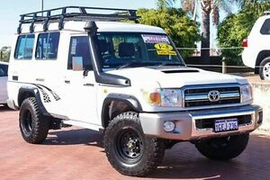 2012 Toyota Landcruiser VDJ78R MY10 GXL Troopcarrier White 5 Speed Manual Wagon Bibra Lake Cockburn Area Preview