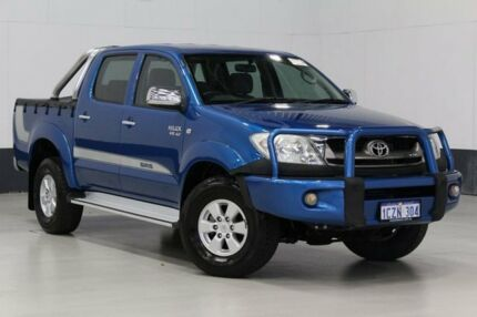2008 Toyota Hilux GGN25R 08 Upgrade SR5 (4x4) Blue 5 Speed Automatic Dual Cab Pickup Bentley Canning Area Preview
