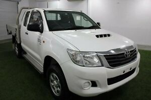2012 Toyota Hilux KUN26R MY12 SR Xtra Cab White 5 Speed Manual Utility Moonah Glenorchy Area Preview