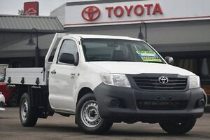 2013 Toyota Hilux TGN16R MY14 Workmate Glacier White 4 Speed Automatic Cab Chassis Windsor Hawkesbury Area Preview