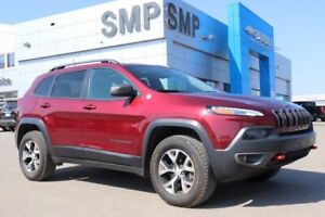 2018 Jeep Cherokee Trailhawk Htd/Vented Leather, V6, Sunroof,