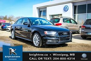2016 Audi A4 Progressiv Plus AWD w/ S Line Pkg/Leather/Nav/Wint