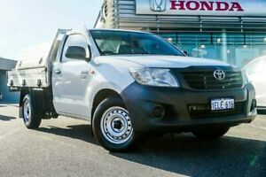 2013 Toyota Hilux TGN16R MY12 Workmate White 4 Speed Automatic Cab Chassis Wangara Wanneroo Area Preview