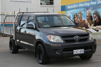 2006 Toyota Hilux TGN16R Workmate Gray Black 5 Speed Manual Dual Cab Pick-up Fyshwick South Canberra Preview