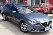2014 Mazda 6 GJ1021 MY14 Touring SKYACTIV-Drive Blue 6 Speed Sports Automatic Wagon Hoppers Crossing Wyndham Area Preview