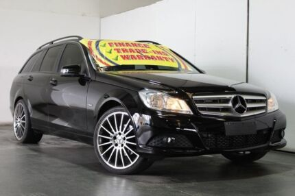 2011 Mercedes-Benz C200 W204 MY11 BE Black 7 Speed Automatic G-Tronic Wagon
