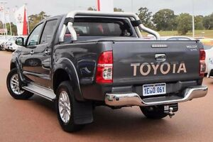 2013 Toyota Hilux KUN26R MY12 SR5 Double Cab Charcoal Grey 4 Speed Automatic Utility Wangara Wanneroo Area Preview