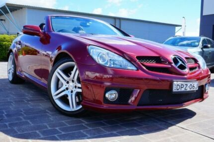 2010 Mercedes-Benz SLK300 R171 MY10 7G-Tronic Red 7 Speed Sports Automatic Roadster