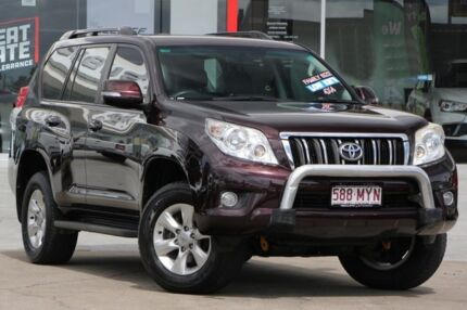 2009 Toyota Landcruiser Prado GRJ150R GXL Purple 5 Speed Sports Automatic Wagon Kippa-ring Redcliffe Area Preview