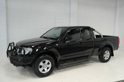 2010 Nissan Navara D40 ST-X King Cab Black 5 Speed Automatic Cab Chassis