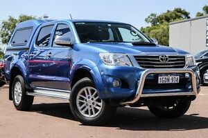 2013 Toyota Hilux KUN26R MY12 SR5 Double Cab Blue 5 Speed Manual Utility Wilson Canning Area Preview