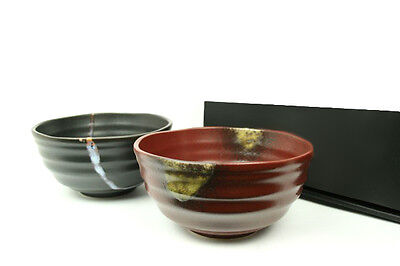 Udon und Soba japanische Suppenschüssel NAMI 2er Set Japan Suppenschalen Ø 16,2