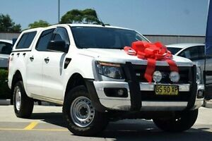 2012 Ford Ranger PX XL Double Cab White 6 Speed Manual Utility Thornleigh Hornsby Area Preview