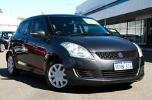 2013 Suzuki Swift FZ GL Grey 4 Speed Automatic Hatchback Glendalough Stirling Area Preview
