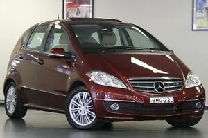 2009 Mercedes-Benz A200 W169 MY09 Elegance Red 7 Speed Constant Variable Hatchback Chatswood Willoughby Area Preview