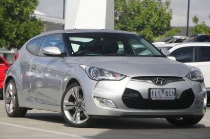 2014 Hyundai Veloster FS2 Coupe D-CT Silver 6 Speed Sports Automatic Dual Clutch Hatchback