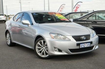 2008 Lexus IS250 GSE20R Sports Luxury Silver 6 Speed Sequential Auto Sedan Wangara Wanneroo Area Preview