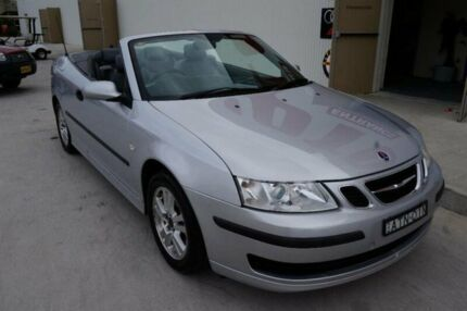 2005 Saab 9-3 MY04 Linear Silver 5 Speed Auto Sensonic Convertible Milperra Bankstown Area Preview