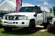 2012 Nissan Patrol GU 6 Series II ST White 5 Speed Manual Cab Chassis Kedron Brisbane North East Preview
